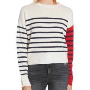 Nordstrom Signature Cashmere Striped Sweater NWT